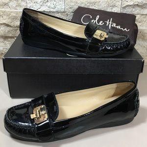 Cole Haan Shoes Moc Black Patent Narrow Tali Lock